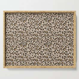 Leopard print - classic cheetah print, animal print Serving Tray