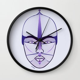 purple geisha Wall Clock