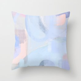 Washed denim: Abstract painting Throw Pillow