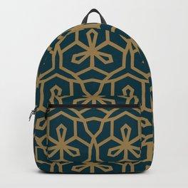 Green & Brown GeoMetric Backpack