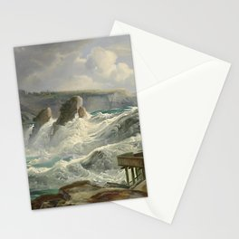 The Rhine Waterfalls, Switzerland landscape painting Christian Morgenstern Stationery Cards