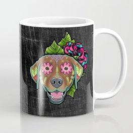 Labrador Retriever - Chocolate Lab - Day of the Dead Sugar Skull Dog Coffee Mug