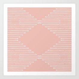 Geo (Blush) Art Print