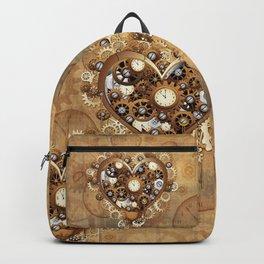 Steampunk Heart Love Backpack