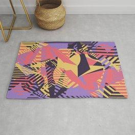 Dazzle Camo #03 - Purple & Yellow Rug