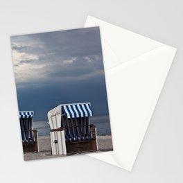 evening at the beach in boltenhagen Stationery Cards