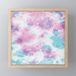 Henna Tie Dye Framed Mini Art Print