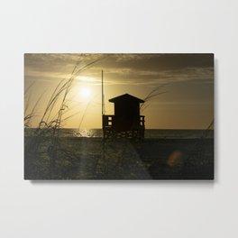 Solitary Sunset Metal Print