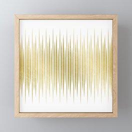 Linear Gold Framed Mini Art Print