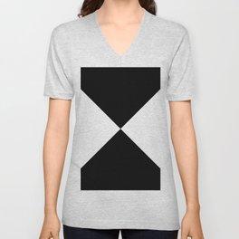 WHITE AND BLACK Unisex V-Neck