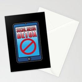 Social Media Detox Offline Meditation Focus Karma Stationery Cards