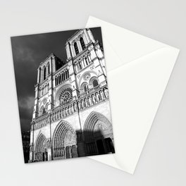 Notre Dame Cathedral Paris France Architecture Photography Art Print Monochrome Stationery Cards