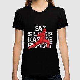 Eat Sleep Karate Repeat Fighter Martial Arts Kendo Taekwando Combat Sports Gift T-shirt