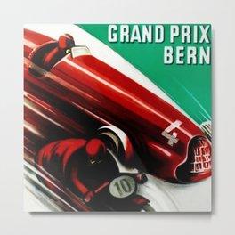 1951 Bern Switzerland Alpine Grand Prix Moto Racing Championnats du Monde Vintage Poster Metal Print