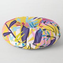 The Garden of My Mind #botanical #illustration Floor Pillow
