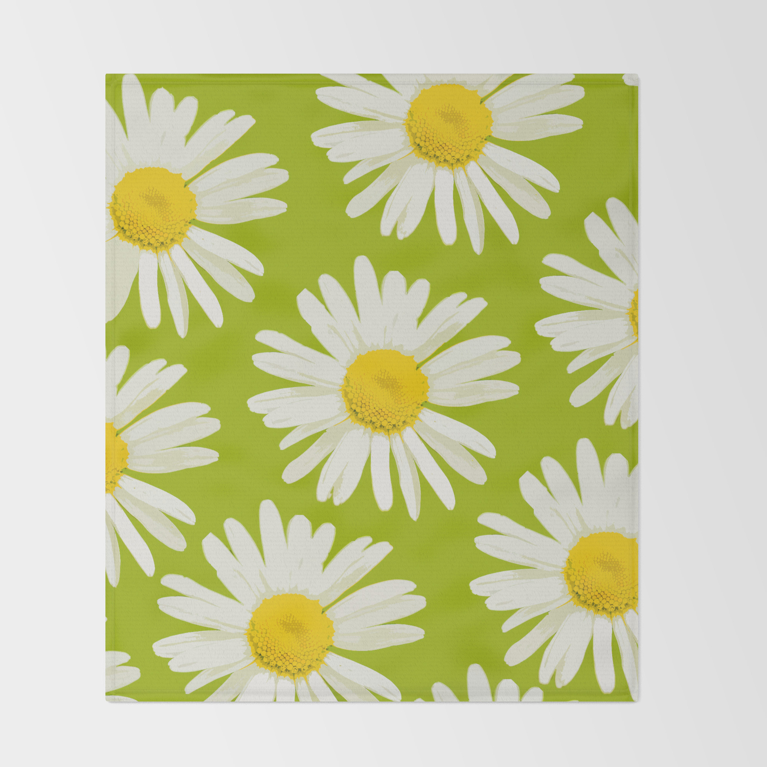 Daisies On A Vivid Green Background Decor Society6 Buyart Throw Blanket By Pivivikstrm Society6