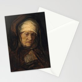 Rembrandt - Head of an Aged Woman Stationery Cards