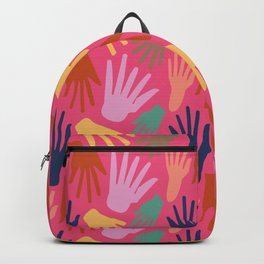 Minimalist Hands in Coral Backpack