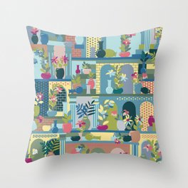Hanging Gardens (Summertime) Throw Pillow