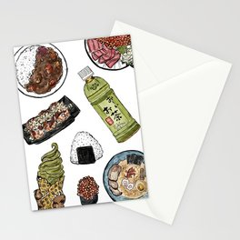 Favourite Japanese Foods 2 Stationery Cards
