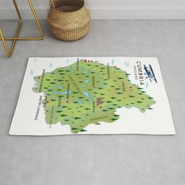 Cumbria England Map Rug