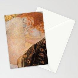 Danae Portrait Painting by Gustav Klimt Stationery Cards