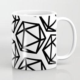 D20 Pattern Large Coffee Mug
