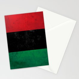 Distressed Afro-American / Pan-African / UNIA flag Stationery Cards