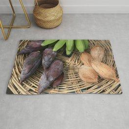 Basket with bananas banana Flower & Cocos Rug