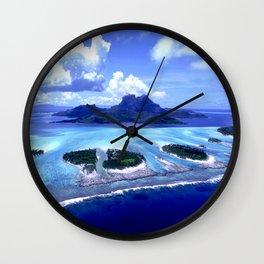 Bora Bora Island Tropical Paradise Wall Clock