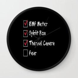 Paranormal Gear Ghost Hunt Wall Clock