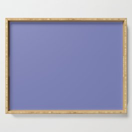 DEEP PARIWINKLE pastel solid color Serving Tray