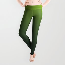 Ombre | Color Gradients | Gradient | Two Tone | Lime Green | Charcoal Grey | Leggings
