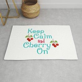 Keep Calm And Cherry On Rug
