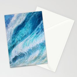 Surfing waves Stationery Cards