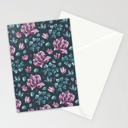 They Only Come Out At Night - Beautiful Abstract Flowers Stationery Cards