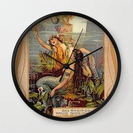 Das Rheingold Gold of Rhein Wall Clock