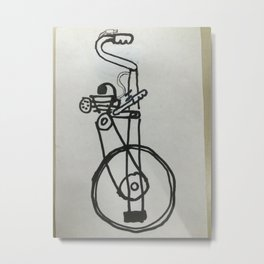 motorized unicycle concept Metal Print