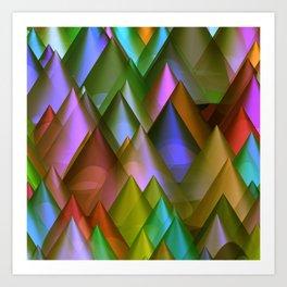 colored cones -2- Kunstdrucke
