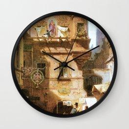 Art And Science - Carl Spitzweg Wall Clock