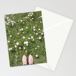 Pink Flower Field Stationery Cards