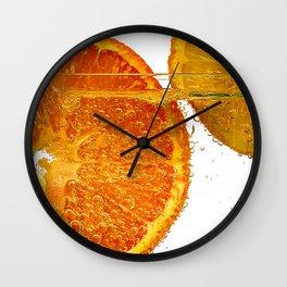 Orange and Lemon Wall Clock