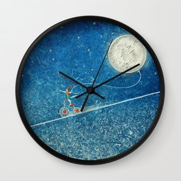 The robbery of the moon Wall Clock