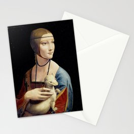 The Lady with an Ermine - Leonardo da Vinci Stationery Cards