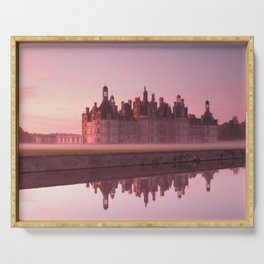 Chateau Chambord at dawn Serving Tray