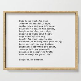This Is My Wish For You, Ralph Waldo Emerson Quote Serving Tray