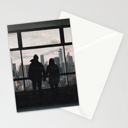Manhattan Views-New York City Skyline and Couple Stationery Cards
