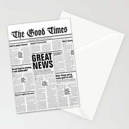 The Good Times Vol. 1, No. 1 / Newspaper with only good news Stationery Cards