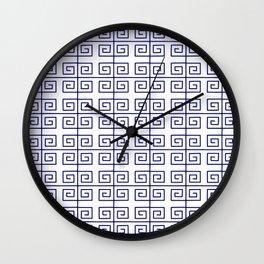 Frieze 2 blue Wall Clock