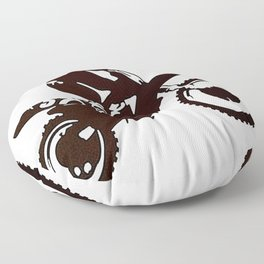 Motor X Silhouette Floor Pillow